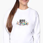 Свитшот для девочки БТС (BTS) (9509-1061-8) Белый