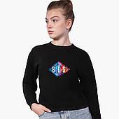 Свитшот для девочки БТС (BTS) (9509-1062) Черный