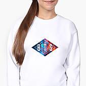 Свитшот для девочки БТС (BTS) (9509-1062-8) Белый