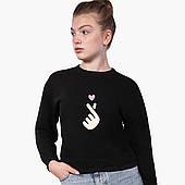 Свитшот для девочки БТС (BTS) (9509-1063) Черный