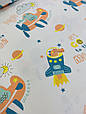 Трикотаж детский (хлопковая ткань) крокодилы-космонавты, фото 2