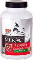 Жевательные таблетки для суставов Связки и Суставы 2-й уровень Nutri-Vet Hip & Joint Extra Strength 75таб.