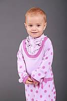 Детское платье для девочки Одежда для девочек 0-2 BRUMS Италия 133BEIM005 Сиреневый
