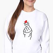 Свитшот для девочки БТС (BTS) (9509-1165-8) Белый