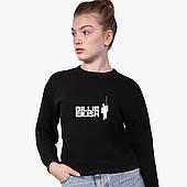 Свитшот для девочки Билли Айлиш (Billie Eilish) (9509-1211) Черный