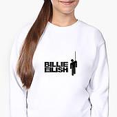 Свитшот для девочки Билли Айлиш (Billie Eilish) (9509-1211-8) Белый