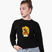 Свитшот для девочки Билли Айлиш (Billie Eilish) (9509-1216) Черный