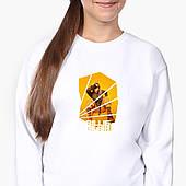 Свитшот для девочки Билли Айлиш (Billie Eilish) (9509-1216-8) Белый