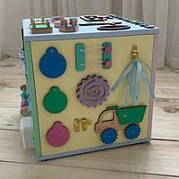 БизиКуб размер 30*30*30 . Развивающий игровая куб. Бизиборд. Busy board