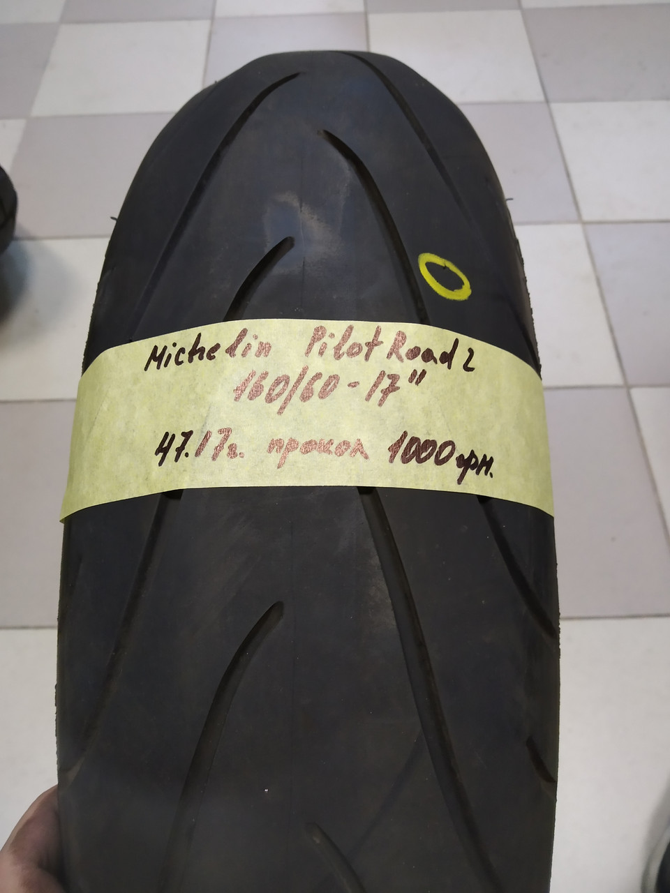 Michlin Pilot Road 2  160 60 17 (47.17) ПРОКОЛ мото шина колесо резина