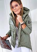 """Куртка женская демисезонная """"Монти"""" Цвета: оливка, беж, серый, мокко, розовый, чёрный. Размер: 42-44, 46-48."""