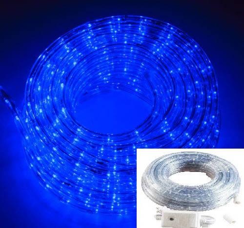 Уличный Дюралайт светодиодный Led гирлянда 50 м синий с переходником, фото 2