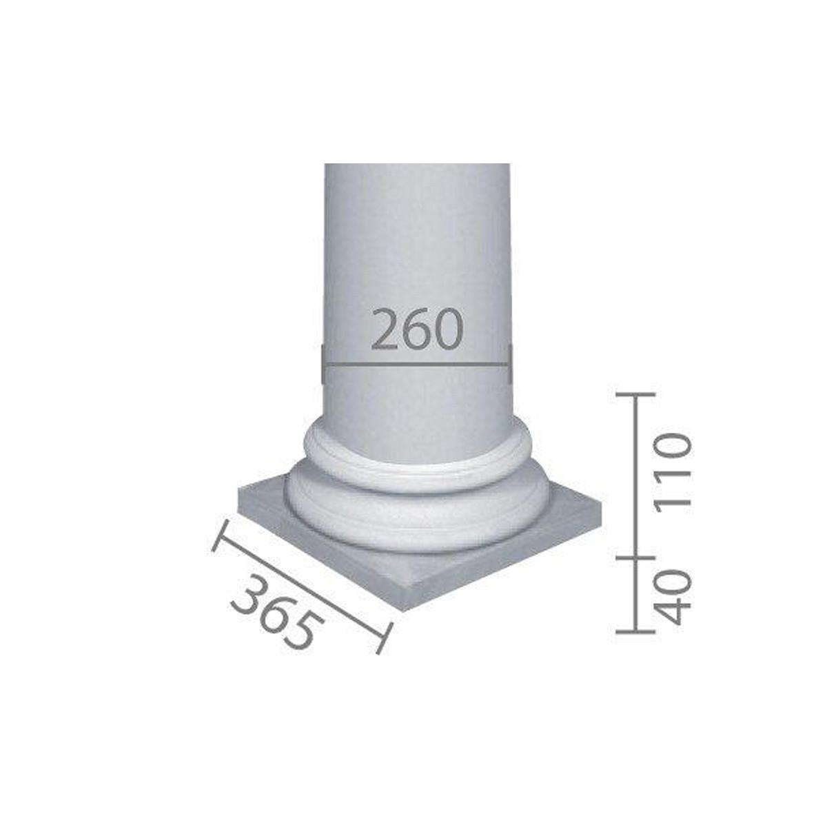 База колонны  б-66 1/2 (энтазис)