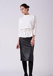 Стильная женская  ассиметричная  белая  блуза Lesya Фарис 7
