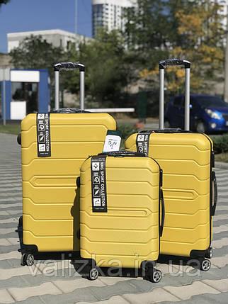 Чемодан из поликарбоната  пластиковый большой  желтый   NRG  Польша, фото 2