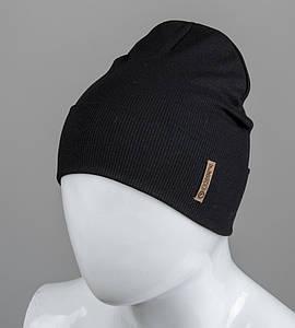 Трикотажная шапка оптом 100% Хлопок FERO, Черный