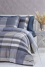 Комплект постільної білизни 200x220 PAVIA PEPITA GRI синій