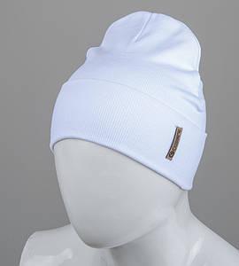 Трикотажная шапка оптом 100% Хлопок FERO, Белый