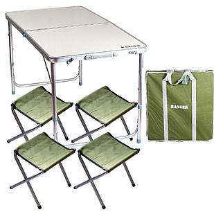 Стол + 4 стула + чехол комплект Ranger ST 401