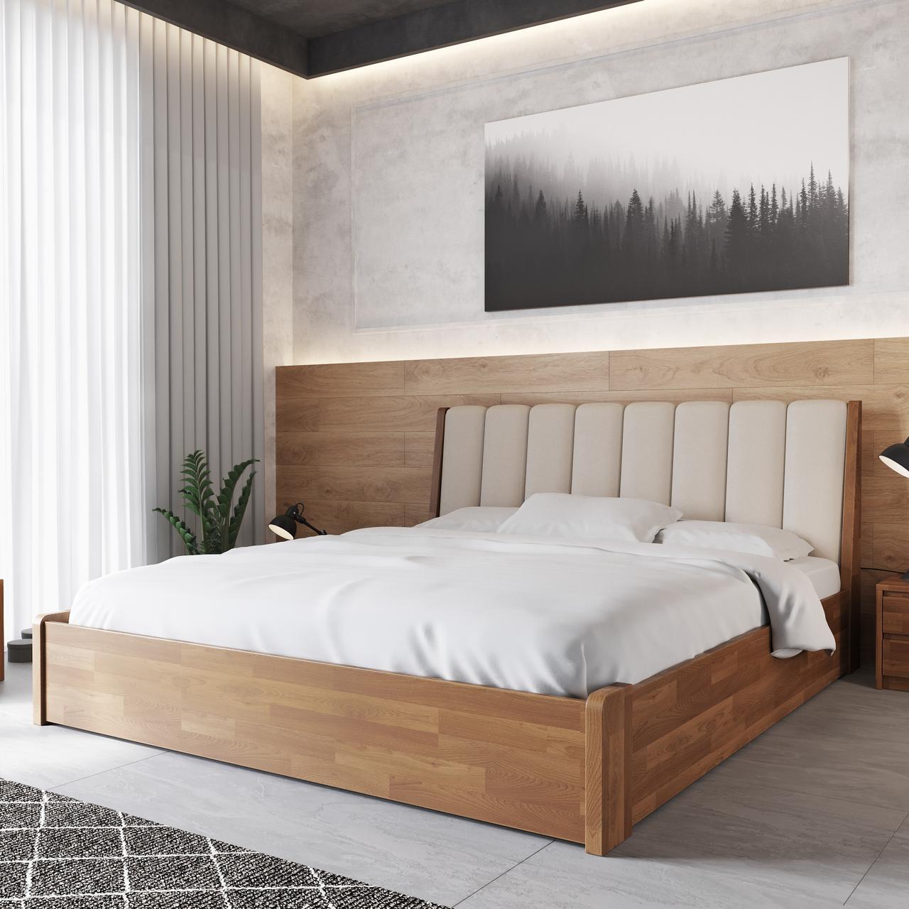 Кровать деревянная Токио 50 с подъемным механизмом односпальная массив бука
