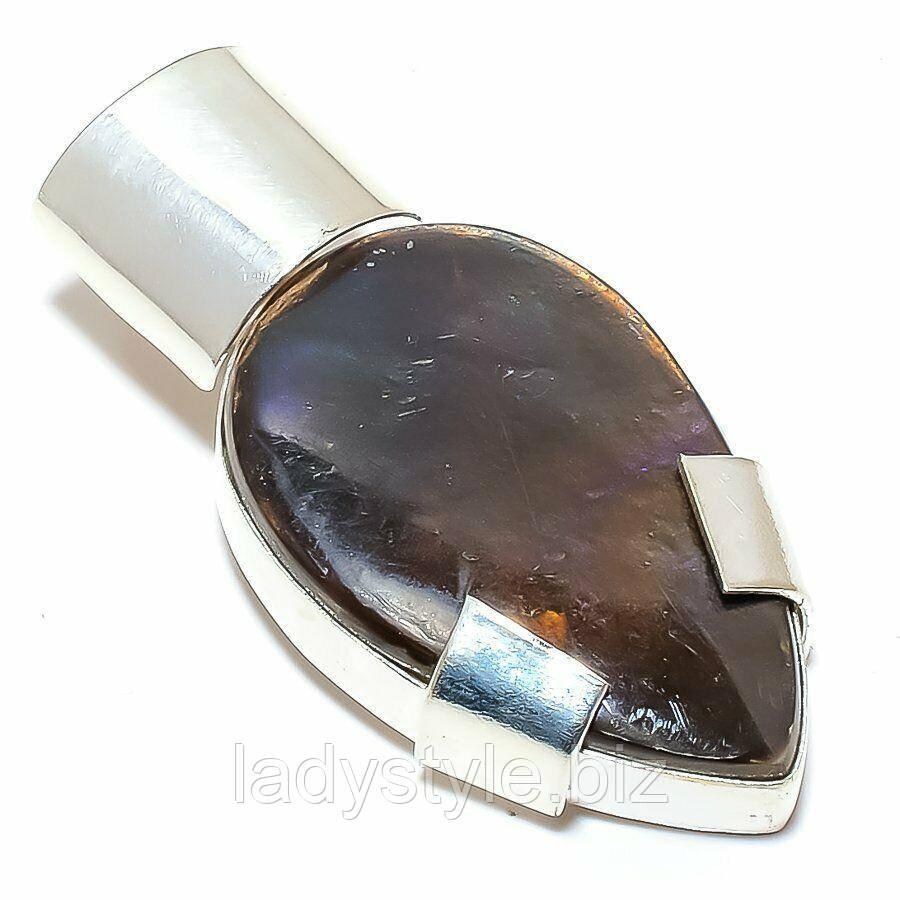 Серебряный  кулон с натуральным аммолитом