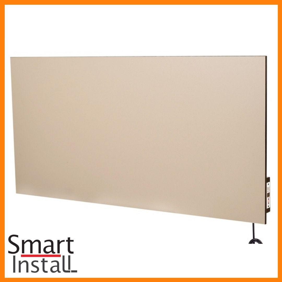 Керамічна панель 770 Вт Smart Install Model 77 кремова з терморегулятором, конвектор електричний побутовий