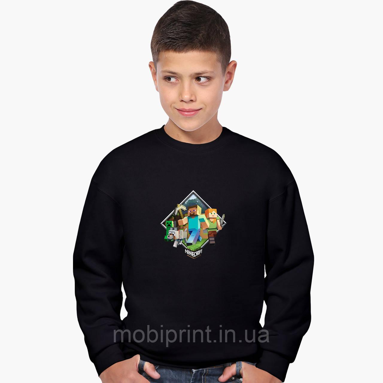 Світшот для хлопчика Майнкрафт (Minecraft) (9509-1175) Чорний
