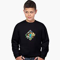 Світшот для хлопчика Майнкрафт (Minecraft) (9509-1175) Чорний, фото 1
