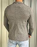 Мужской пиджак классический приталенный серый в полоску Турция. Живое фото (клубный пиджак мужской), фото 3