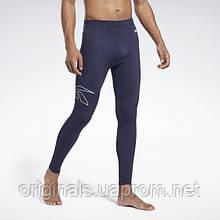 Компрессионные тайтсы для тренировки Reebok United by Fitness GC8341 2020/2 мужские синие