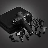 Портативный Массажный Пистолет Massage Gun, Перкуссионный Массажер для Тела 8 Насадок 9 Скоростей 24V, 5200 мA, фото 8