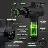 Портативный Массажный Пистолет Massage Gun, Перкуссионный Массажер для Тела 8 Насадок 9 Скоростей 24V, 5200 мA, фото 2