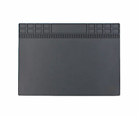 Термоизоляционный силиконовый коврик для ремонта телефона Sunshine SS-004A (250 x 350 mm) Gray