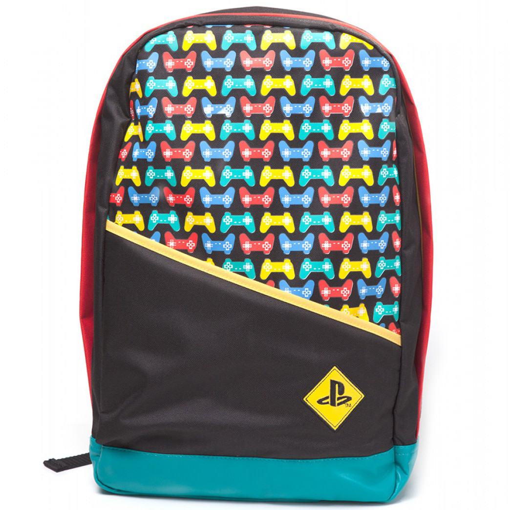 Рюкзак PlayStation Backpack with Colored Controllers Print (Difuzed)