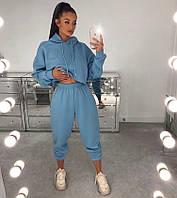 Спортивний костюм двунітка Блакитний, фото 1