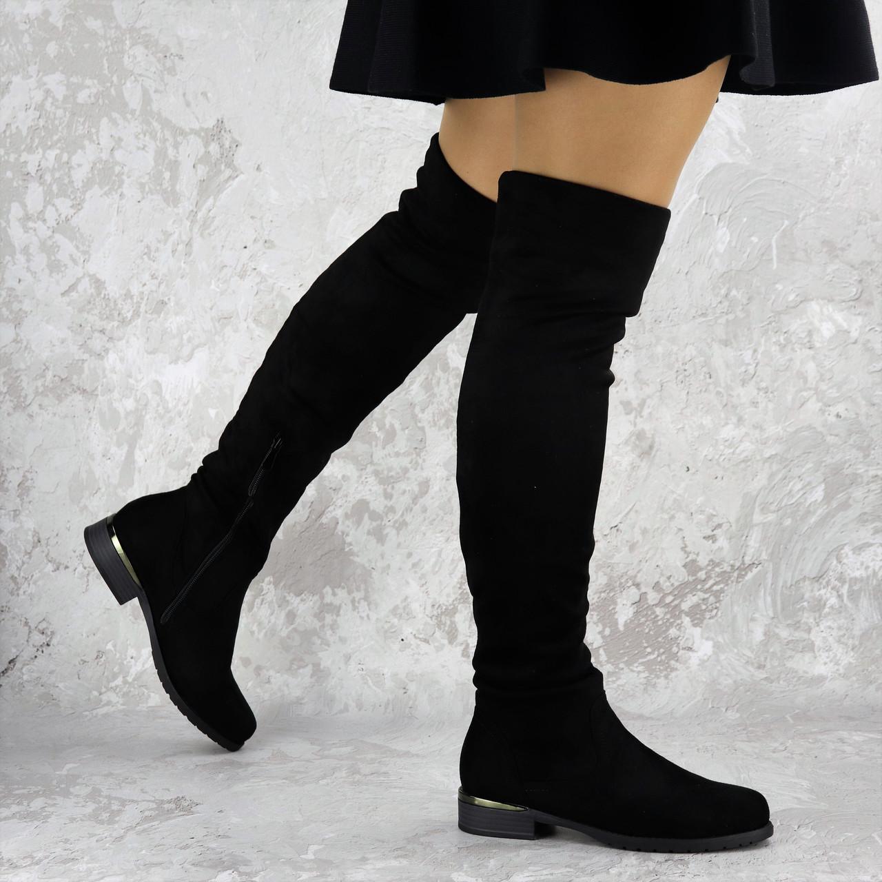 Женские ботфорты Fashion Nabbenna 1371 36 размер 23,5 см Черный