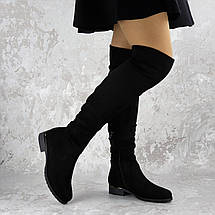 Женские ботфорты Fashion Nabbenna 1371 36 размер 23,5 см Черный, фото 2