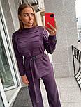 Жіночий в'язаний костюм з широкими штанами. светр з поясом (в кольорах), фото 8