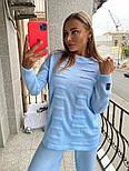 Жіночий в'язаний костюм з широкими штанами. светр з поясом (в кольорах), фото 7