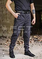 Брюки тактические Корд стрейч рип-стоп темно-серые, фото 1