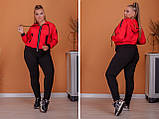 Спортивный костюм трикотаж двухнитка кофта на молнии и штаны батал:50-52, 54-56, 58-60, 62-64, фото 2