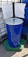 0207-18/1: С доставкой в Сумы ✦ Бочка (200 л.) б/у конусная металлическая, фото 1