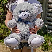 Серый плюшевый мишка 65 см, лучший подарок для девушки