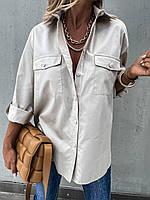 Женская удлиненная стильная рубашка, фото 1