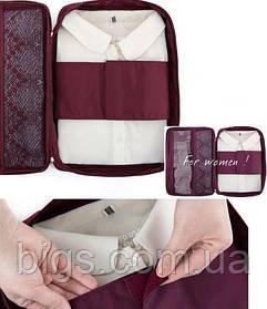 Кейс для блуз, рубашек, дорожный органайзер. Розовый