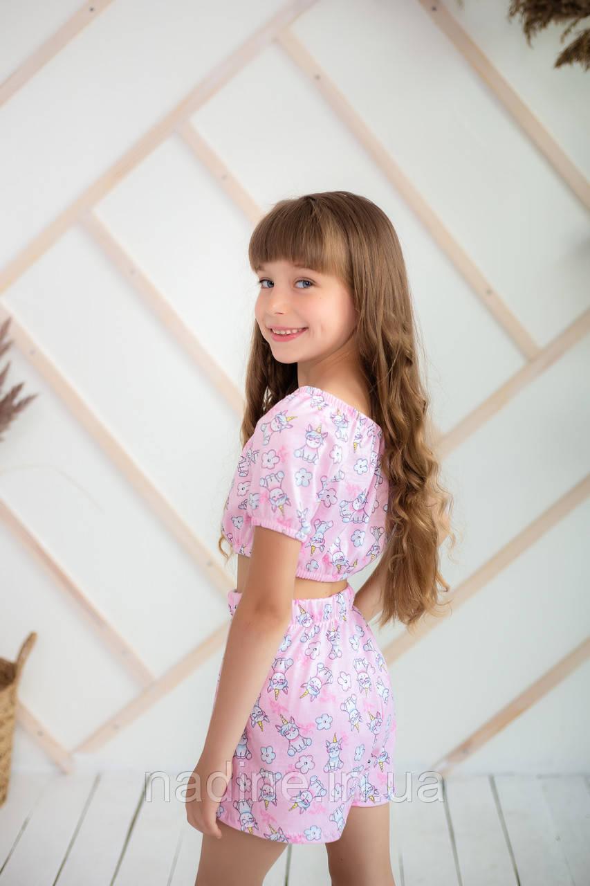 Піжама трикотажна єдиноріжки Eirena Nadine (734-22) зростання 122/30 рожева