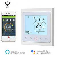 Терморегулятор Ecoset 603 Wi-Fi - сенсорний програмований для теплої підлоги (колір білий)