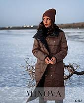 Двусторонняя куртка женская на кнопках, цвет капучино-чёрный, размеры  от 44 до 50, фото 3