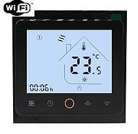 Терморегулятор Ecoset AC603H Wi-Fi сенсорний програмований для теплої підлоги (колір чорний)