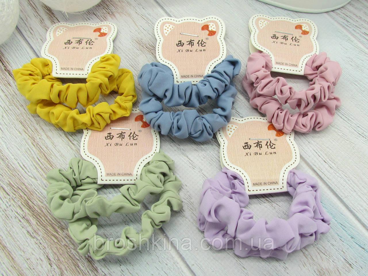 Резинки для волос Ø6 см цветные 20 шт/уп.